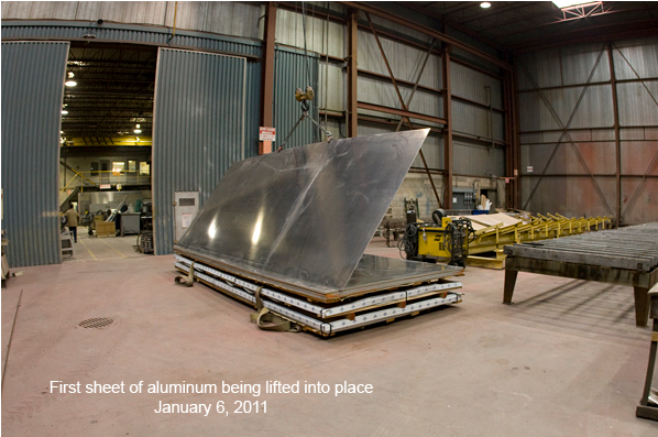 Materials Are Received and Inspected prior to custom jet boat production