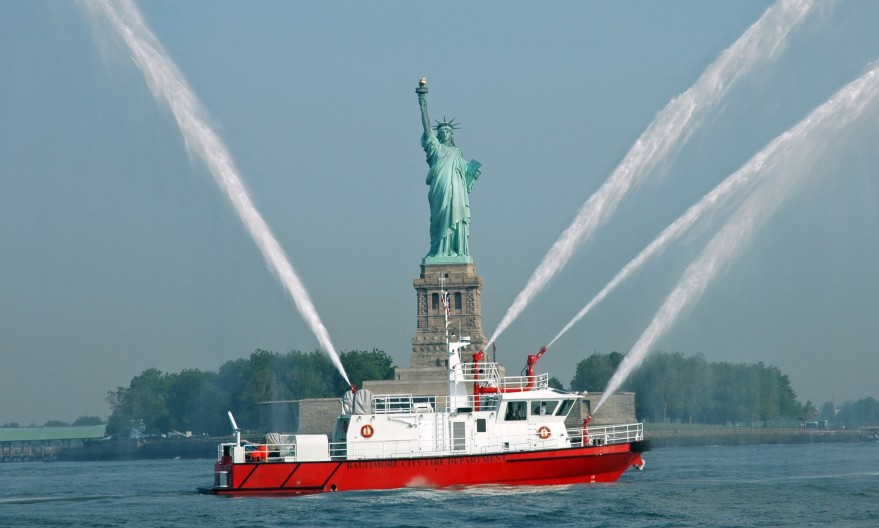 Baltimore Fire Department Custom Built Fire Boat Hike Metal Products