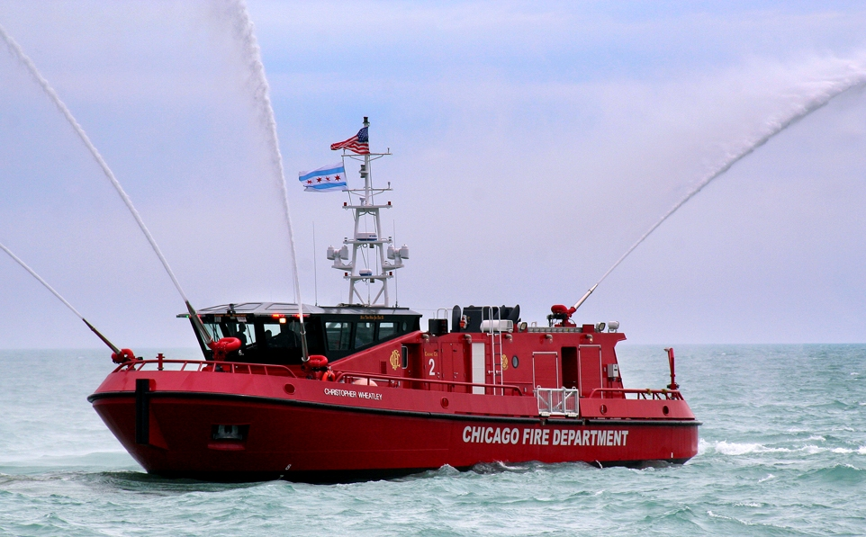 Custom Chicago Fire Department Fire Boat Hike Metal Products