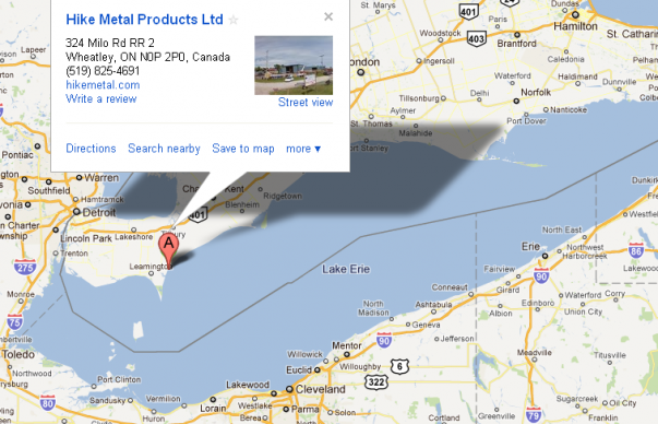 Custom Boat and ship building and manufacturer facilities and shipyard ontario, canada map