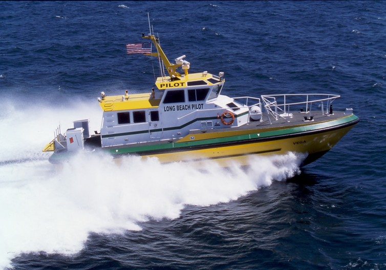Hike metal products custom built pilot boat for jacobsen Pilot Services Long Beach CA.